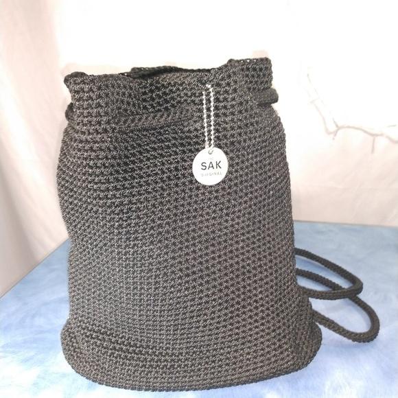 The Sak Bags Crocheted Drawstring Backpack Poshmark